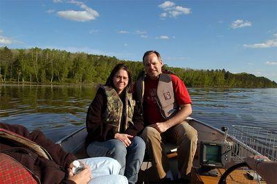 Lucia & Me on Rice Lake, Brainerd, Minnesota