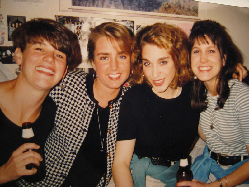 Senior year at Denison University: Lucy, Christy, Grazia & Amy.