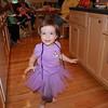 Clare running around the kitchen