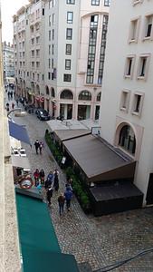 View from our apartment, 46 rue de Brest, Lyon
