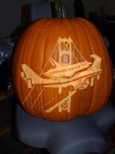 Eric Clyde's pumpkin! The Space Shuttle