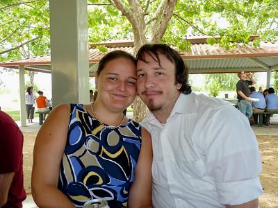 Iris and her fiance Josh