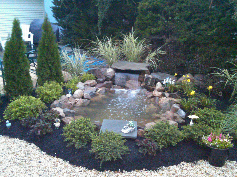 johnny and Deb Nordyk's waterfall in SeaSide Hgts. nj