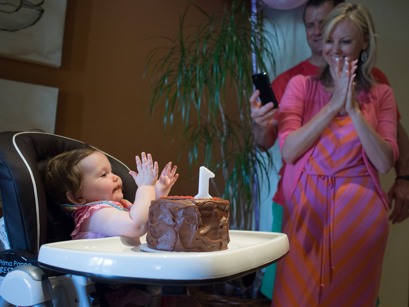 Madeleine's first birthday party.