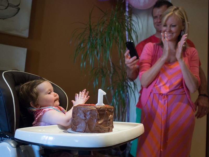 Madeleine's first birthday party.