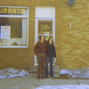 Dave Wolfert and Robbie Merkin, looking for a farm to rent for the band; spring 1970