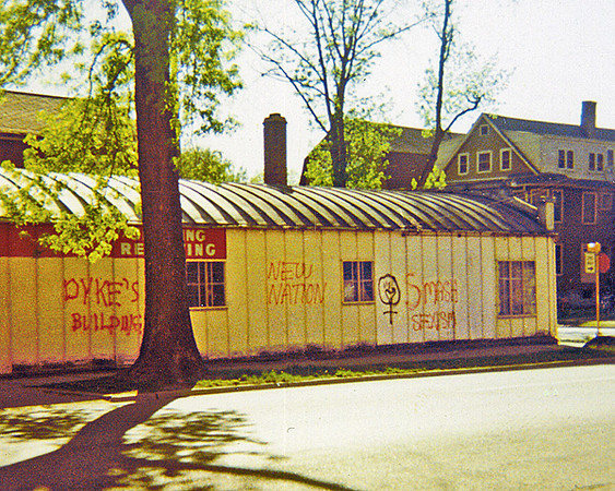 A building at Broom and Mifflin, in Madison WI; May 1971