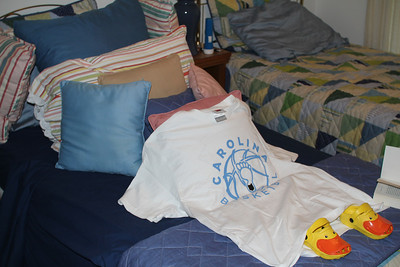 Melanie finally has enough pillows (maybe) - thanks Joyce for the nice t-shirts and sweatshirts!  why didn't Fran give me her pillow?
