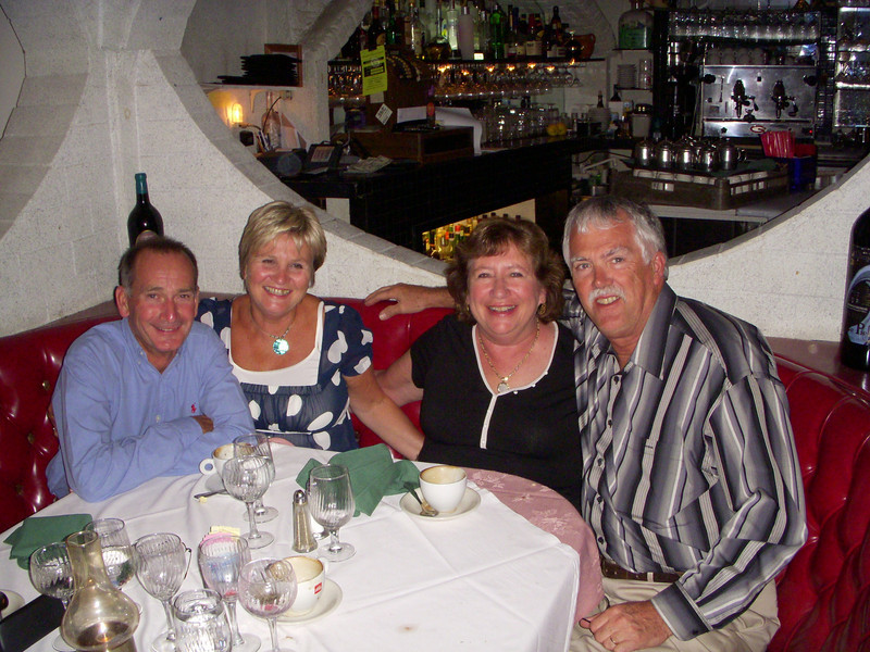 Malcolm, Jane,Anne & Ian. Dinner at Georgio's Palos Verdes