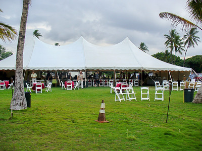 tent at the VFW Hall -- right on the Maui coastline!