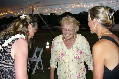 Terrie and Lynnie making Mom laugh