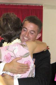 Hugging new Grandma