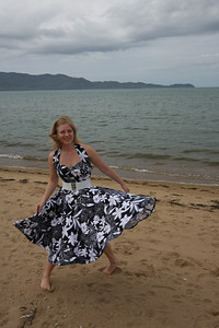 Marikki at the beach in Townsville. Photo by Trent Williams