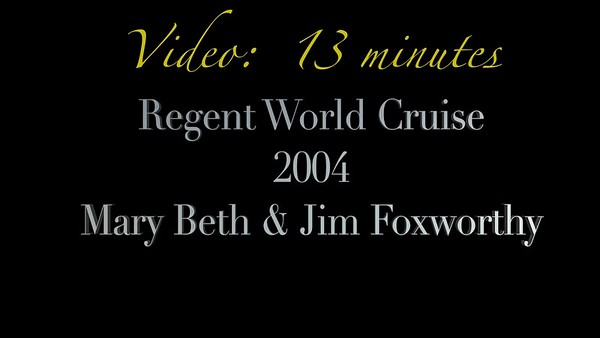 Video: 13 minutes - Foxworthy's on 2004 World Cruise