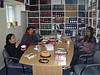 Mary Blueboy, Celine Koostachin and Dechen Khangkar in library