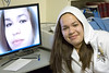 Heather with her screen image 2007 March 12th