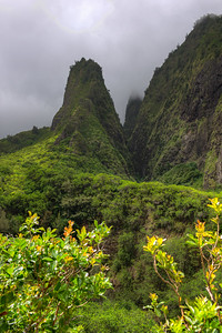 Iao Valley Needle... The Phallic stone of Kanaloa, Hawaiian God of the Ocean.  Also where the son of Maui's Cheif made his last stand against King Kamehameha but was defeated by the King's use of western weapons.