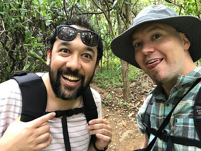 "Jonathan and I, First Beginning Iao Valley Tableland ""Secret Trail"" Hike."