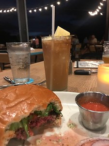 My first Drink- a Delicious Mai Thai and amazing burger from Maui Brewing Company.