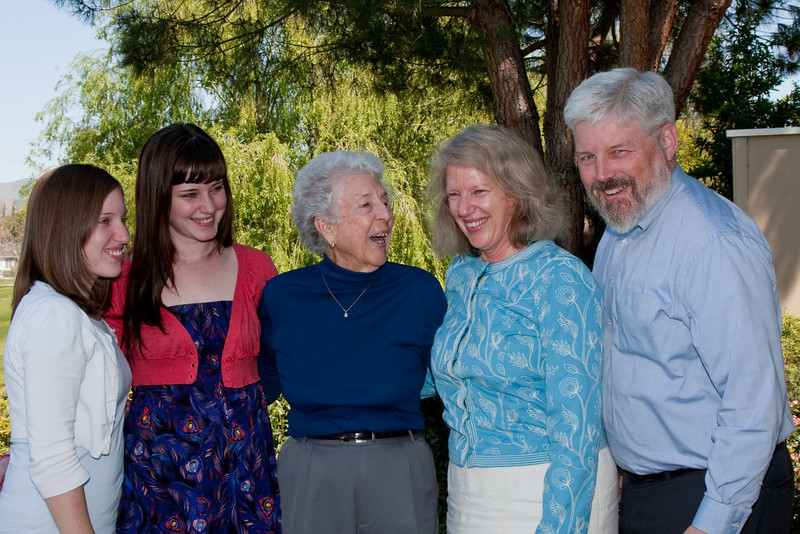 Celebrating Maxine Bagley's 95th birthday at her house in Hollister, CA