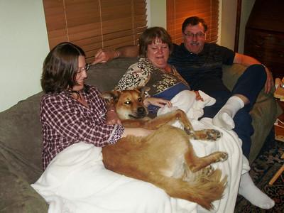 Elizabeth, Patti, & Walt McCormick w/ Lucy