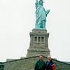 Michael and Mary Louise near the Statue of Liberty after his return from Afghanistan.