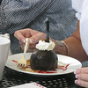 Mickee has the Chocolate Bomb -- see the candle was just blown out!