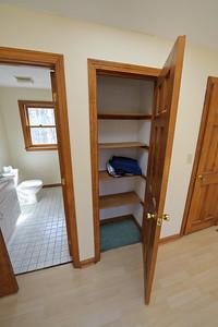 The master linen closet.