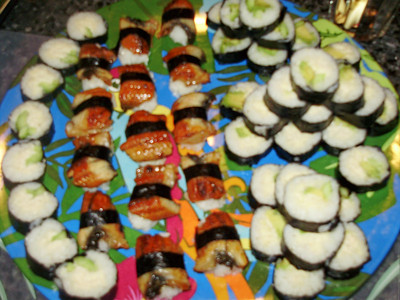 Chisa's home-made sushi