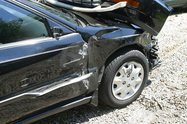 Miranda's car after wreck 20060616