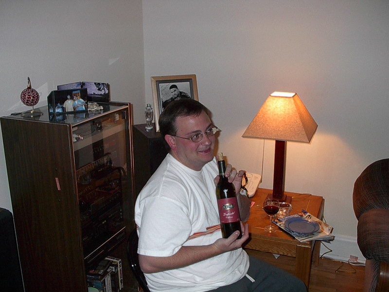 Me with a bottle of Cline Wine.  Go figure!