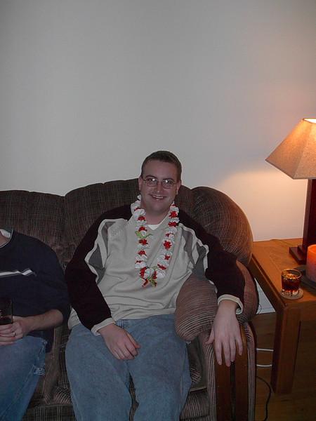 Tony at the Hawaiian Dinner on Paulina.