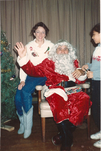 Mrs. Wayman with Santa