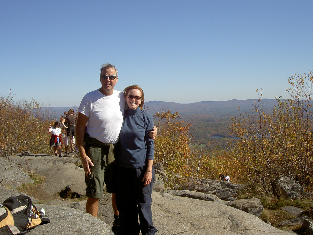 Dave C and Carol near the top of Monadnock