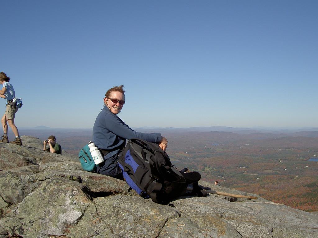 Carol at the top of Monadnock