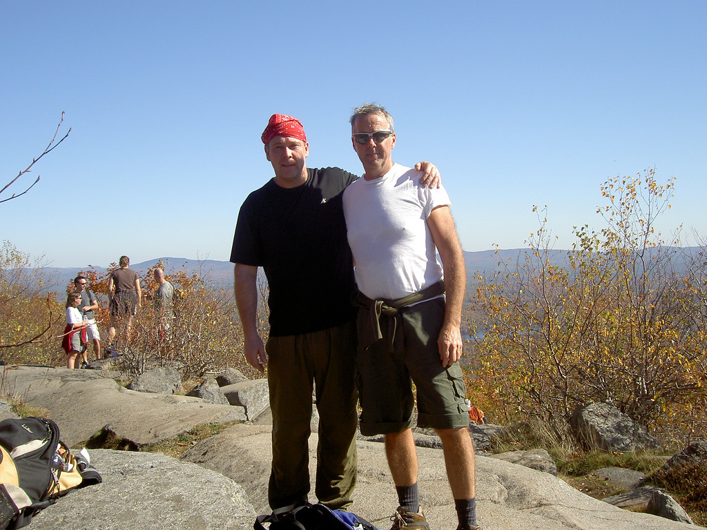 Dave M and Dave C near the top of Monadnock