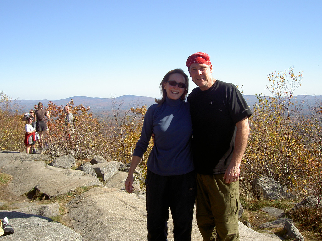 Carol and me near the top of Monadnock