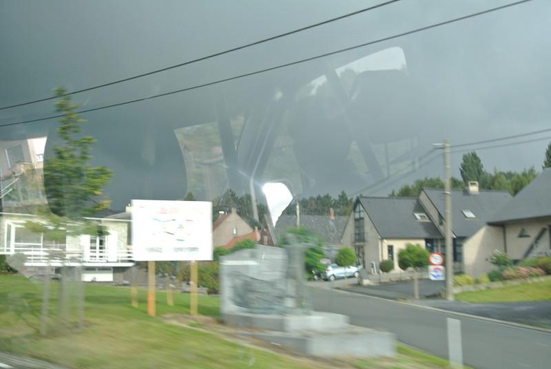 Foto niet al te best, maar om te laten zien hoe donder het was...
