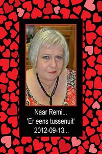 Naar Remi... 'Er even tussenuit'... Donderdag 13 september 2012... Kaartje gemaakt om hem te bedanken...