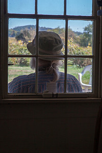 Contemplative Moose, Surreptitious Mike  View from the  Paine House (1694), a yellow clapboard saltbox on Greenwood Farm