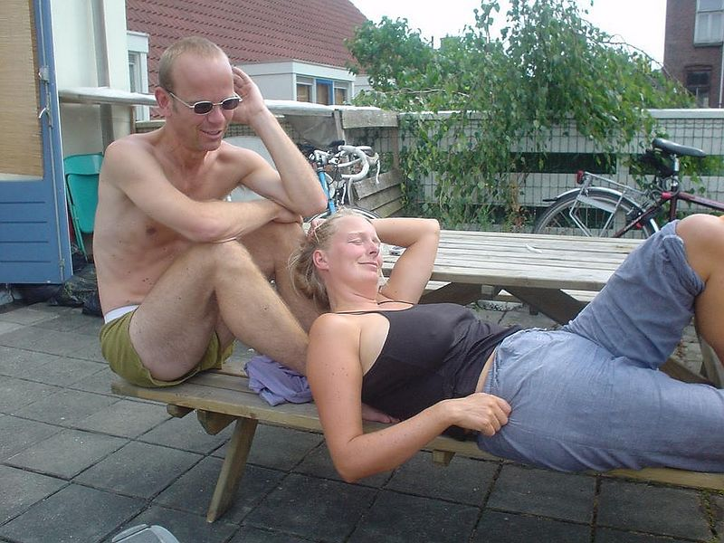 Martin and Femke chilling to the max