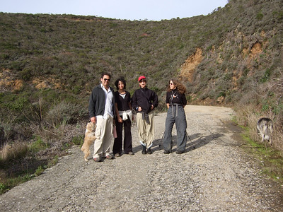 Joel McEwen, left, girlfriend, Jean Marie Offenbacher, Eva Strauss-Rosen. Hike with Joel McEwen, girl friend, Jean Marie Offenbacher and my wife Eva Strauss-Rosen. Moss Beach Trails. Dec 27, 2010.