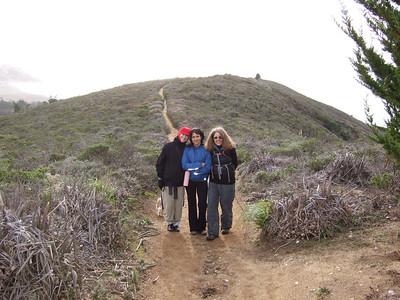 Hike with Joel McEwen's girl friend, Jean Marie Offenbacher and my wife Eva Strauss-Rosen. Moss Beach Trails. Dec 27, 2010.
