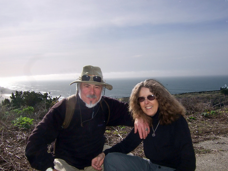 Stephen Somerstein and wife Eva Strauss-Rosen. Hike with Joel McEwen, girl friend, Jean Marie Offenbacher and my wife Eva Strauss-Rosen. Moss Beach Trails. Dec 27, 2010.