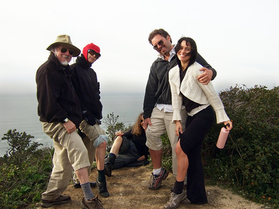 Stepehn somerstein, Jean Marie Offenbacher, Eva Strauss-Rosen (lying down), Joel McEwen and girlfriend. Hike with Joel McEwen, girl friend, Jean Marie Offenbacher and my wife Eva Strauss-Rosen. Moss Beach Trails. Dec 27, 2010.