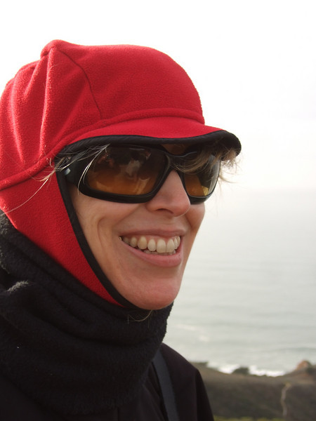 Jean Marie Offenbacher. Hike with Joel McEwen, girl friend, Jean Marie Offenbacher and my wife Eva Strauss-Rosen. Moss Beach Trails. Dec 27, 2010.