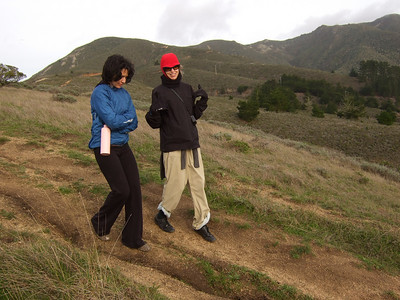 Hike with Joel McEwen's girl friend, left, Jean Marie Offenbacher, right. Moss Beach Trails. Dec 27, 2010.