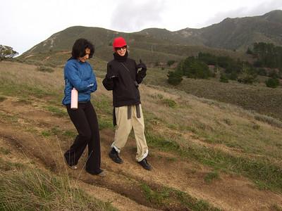 Hike with Joel McEwen's girl friend, left, Jean Marie Offenbacher, right. Moss Beach Trails. Dec 27, 2010.