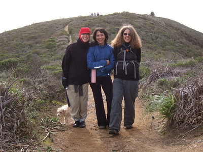 Hike with Joel McEwen's girl friend, Jean Marie Offenbacher and my wife Eva Strauss-Rosen. Moss Beach Trails. Dec 27, 2010.