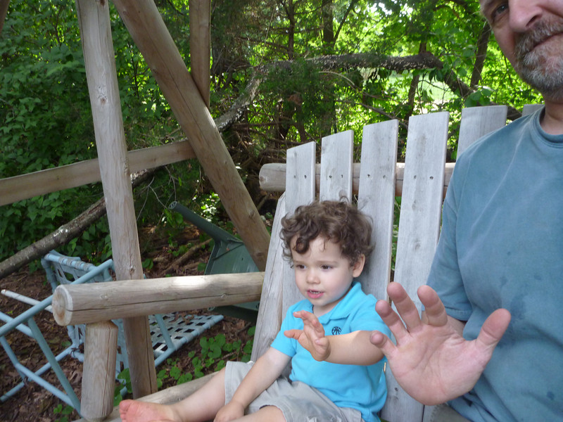 On the big boy swing